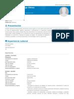 Curriculum Vitae Javier Astorga Olmos