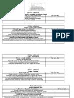 tabela para atividade