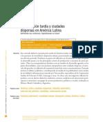 Motorización tardía y ciudades dispersas-Revista JAveriana