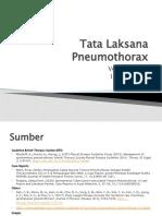Tata Laksana Pneumothorax