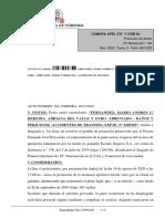 Auto Camara sobre perencion de instancia computando plazos suspendidos por la pandemia