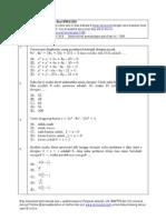 matematika IPA soal spmb 2006