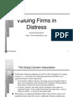 Valuing Firms in Distress_Aswath Damodran