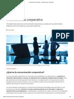 Comunicación Corporativa - Concepto, tipos y elementos