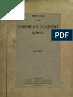 Memoirs of American Academy in Rome. Vol II