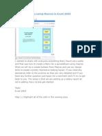 Creating a Menu using Macros in Excel 2003