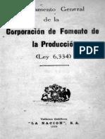 CORFO. (1939). Reglamento General de CORFO
