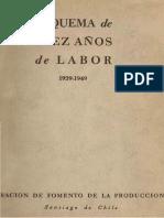 CORFO. (1949). Esquema de Diez Años de Labor