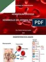 SEM 05 Hematolinfopoyesis