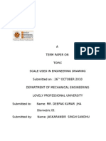 A TERM PAPER ON DIFFERENT TYPES OF SCALES USED IN ENGINEERING DRAWING