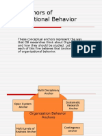 Five Anchors of Organizational Behavior