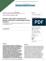 Revisión crítica sobre el síndrome del latigazo cervical (II)_ ¿cuánto tiempo tardará en curar_