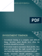 INVESTMENT TIMINGS AND FORMULA PLANS