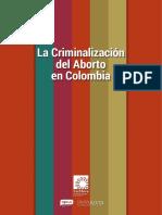 La criminalización del aborto en Colombia