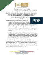 PROYECTO DE LEY SEDE ALTERNA PRESIDENCIA, CONGRESO Y  MINISTERIOS 20.07.21