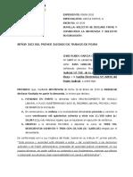 MODELO PARA QUE SE DECLARE FIRME, CONSENTIDA Y SE EJECUTE LA SENTENCIA