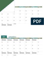 Calendário acadêmico Unopar 2° Semestre