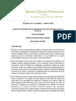 Instrucción pastoral sobre la vacunación contra el COVID-19