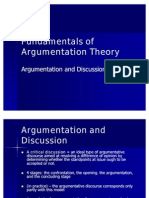 Fundamentals of Argumentation Theory curs 2 (Argumentation and Discussion)