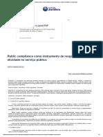 Conteúdo Jurídico _ Public Compliance Como Instrumento de Resgate Da Eticidade No Serviço Público