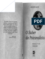 19 LACAN Jacques. O Seminário. O Saber Do Psicanalista 1971-72-2