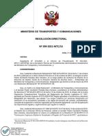 Proceso Administrativo Disciplinario Paredes RD Nº399-2021-MTC-16[R][R].PDF