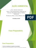 Certificação Ambiental Aula7