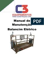 Manual de Manutenção Balancim Eletrico C3