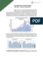 Informe de Exportaciones de Carnes Bovinas (Julio 2021).