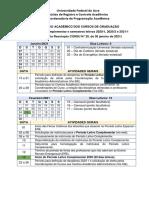 Calendário Acadêmico atualizado