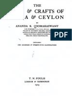 AKC,arts in india&ceylon