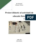 Proiect Didactic Ed. Fiz. SERBAN L