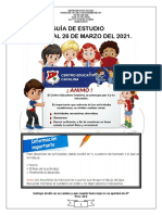 - Segundo Grado Español - Del 23 Al 26 de Marzo Del 2.021