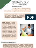 EXAMENES MÉDICO-LEGAL DEL ABORTO CRIMINAL