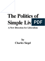 Politics of Simple Living