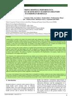 Efficiency Hospital Efficiency Ethiopia Bulletin Publication 2