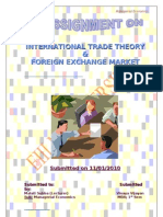 Foreign Exchange Market and International Trade Theory