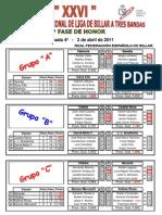 Resultados y clasificación Liga Nacional División Honor 4ª jornada
