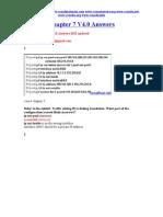CCNA 4 Chapter 7 V4.0 Answers 2011