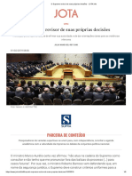 O Supremo Revisor de Suas Próprias Decisões - JOTA Info