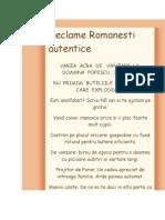 Reclame Romanesti autentice
