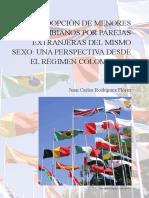 Adopción de menores colombianos por parejas extranjeras del mismo sexo