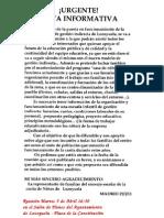 Nota Informativa AMPA Lozoyuela