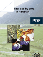 Fertilizer use by Crop in Pakistan