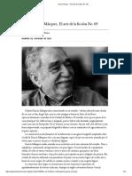 Entrevista a Gabriel García Márquez (Paris Review-The Art of Fiction No. 69)