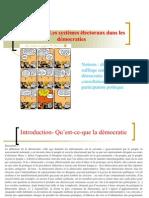 option sciences politiques - Le  système électoral