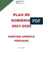 Deficiencias de los planes de gobierno 2021 - análisis APRA