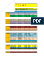 Time table for semester exam sem 2 + 4