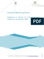 Posicionamiento orgánico en buscadores (SEO)