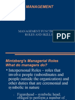 Management Functions, Roles and Skills